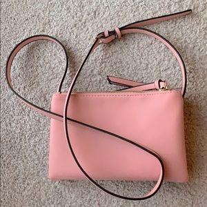 Baby pink crossbody purse